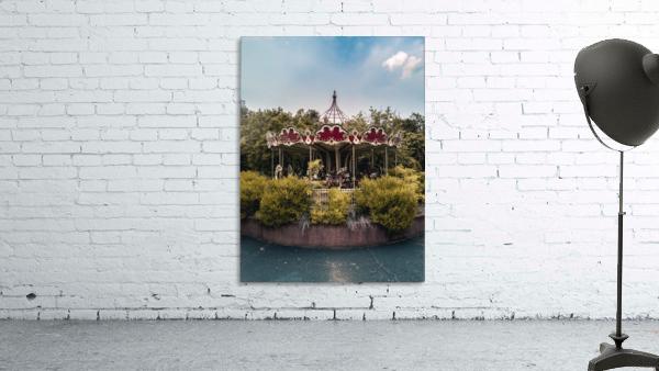 Abandoned Theme Park Merry Go Round