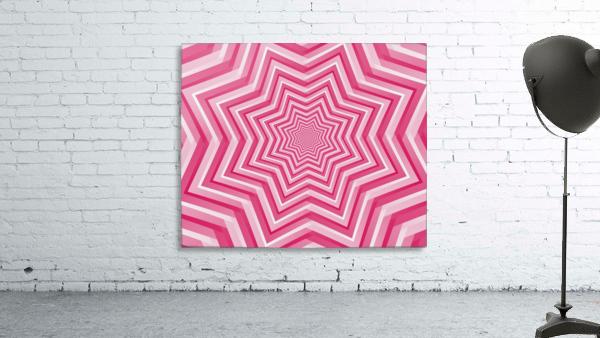 Pink Geometric Design Art