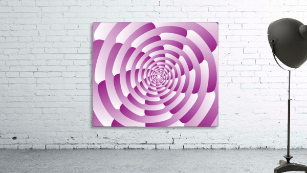 Abstract Pink Spiral Art