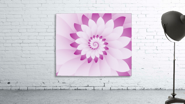 Abstract Pink & White Floral Design Art