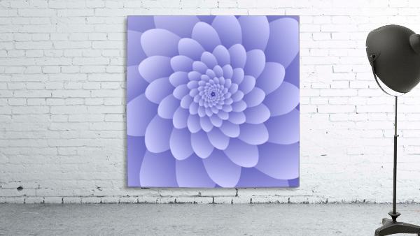 3D Modern Purple  Floral Art