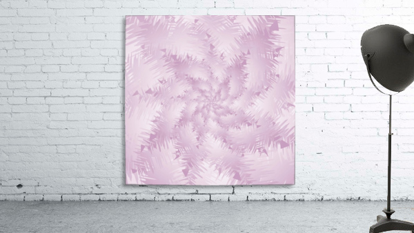 Pink Snowflakes Forest