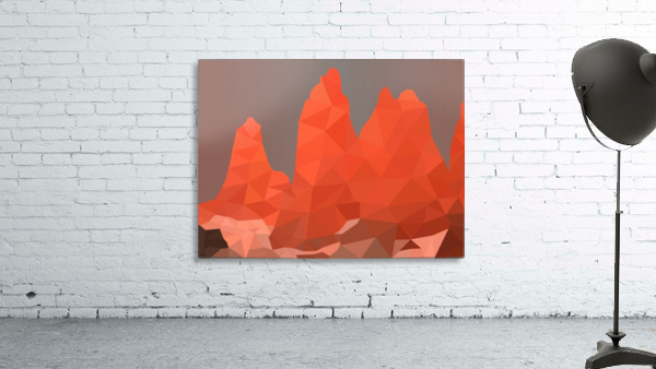 Torres del Paine National Park Low Poly Art