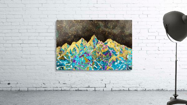 Gold Turquoise Mountain - Illustration I