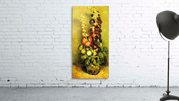 Hollyhocks by Van Gogh