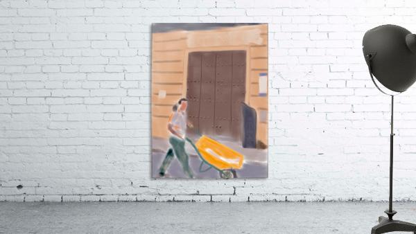 Cuba Wheelbarrow Worker