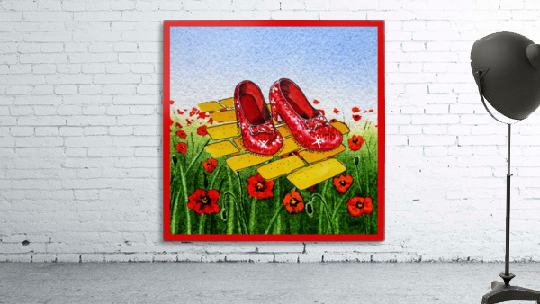 Ruby Slippers Yellow Brick Road Red Poppies Field