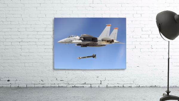 An F-15E Strike Eagle drops a GBU-28 bomb during a Combat Hammer mission.