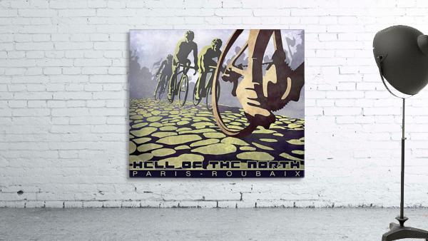 Paris Roubaix retro cycling poster