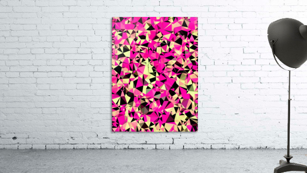 geometric triangle pattern abstract in pink and black