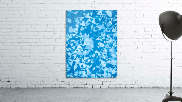 geometric triangle pattern abstract in blue