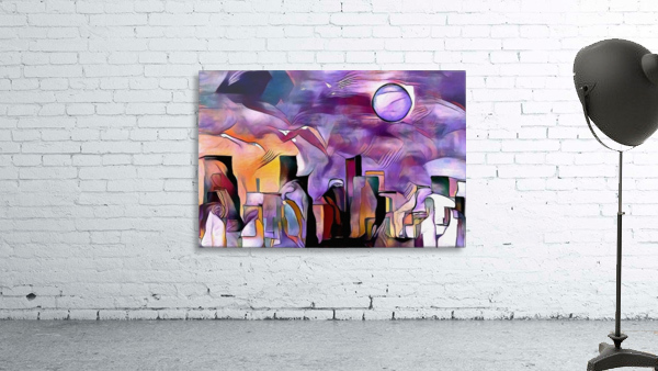 Colorful City Silhouettes