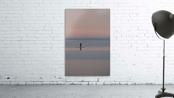 Evening paddleboarder