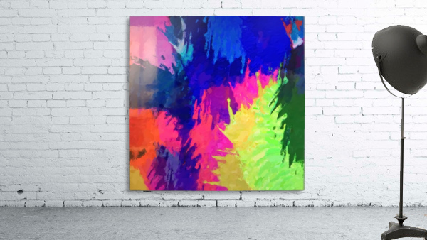 painting texture abstract background in blue pink yellow green