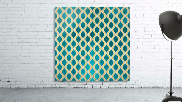 Gold - Turquoise pattern I