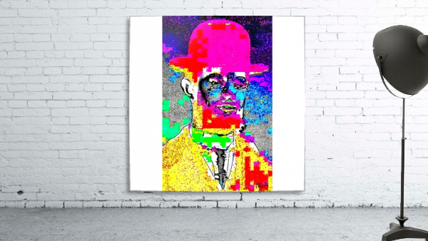 Man with the Pink Bowler Hat by neil gairn adams