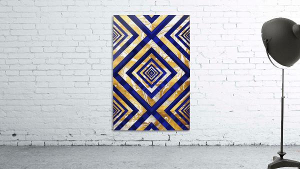 Geometric Gold Dark Blue Marble