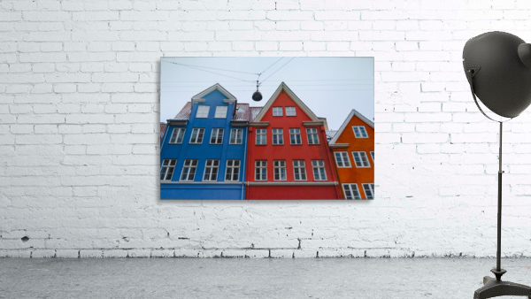 The red and blue house in Copenhagen