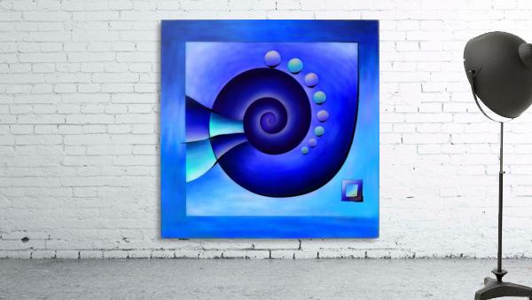 Escanissimera - endlessly limited blue spiral snail