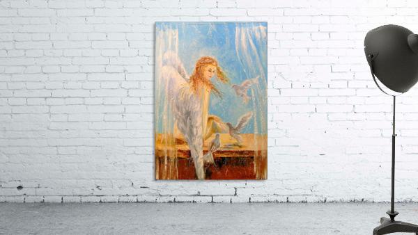 Angel on the window
