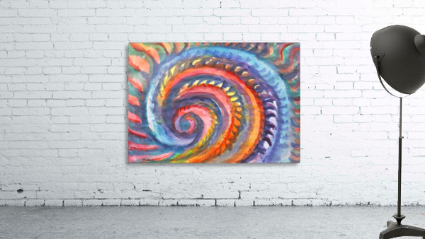 Watercolor abstract spiral staircase