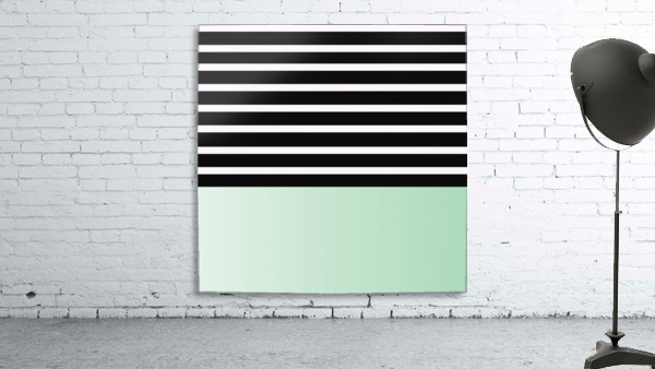 Black & White Stripes with Green Patch
