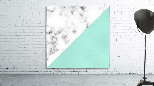 ABSTRACT MODERN TURQUOISE GLASS MARBLE