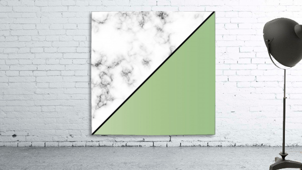 ABSTRACT MODERN YELLOW GREEN MARBLE