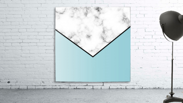 ABSTRACT BLUE TINT MODERN MARBLE