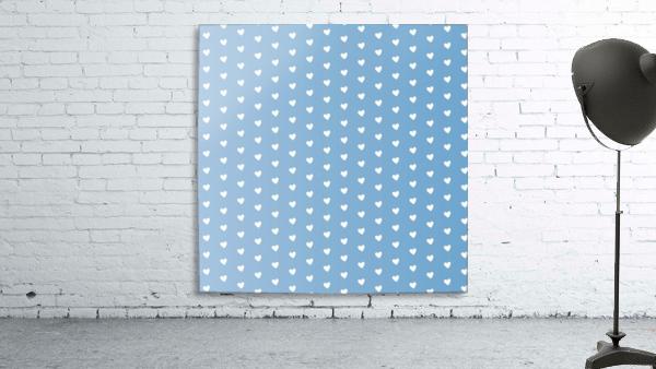 Blue Grey Heart Shape Pattern