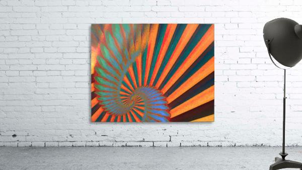Composition in Orange Blue & Green