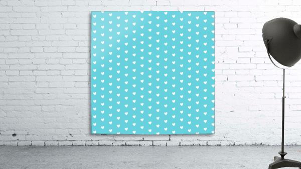 Sweet Light Blue Heart Shape Pattern