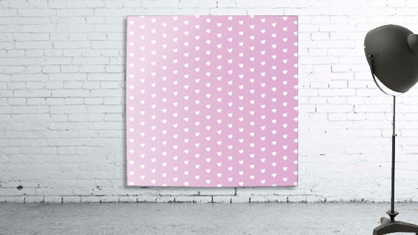 Spring Pink Heart Shape Pattern