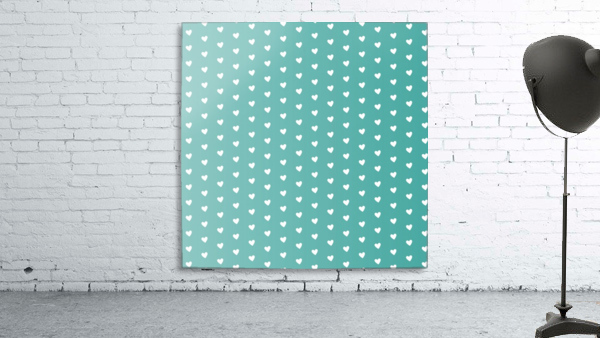 Teal Green Heart Shape Pattern