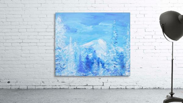 Monochromatic Blue Rocky Mountains