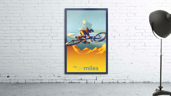 my air miles mountain bike poster