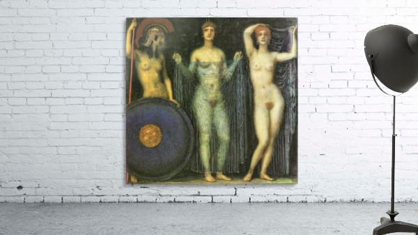 The three Goddesses Athena, Hera and Aphrodite by Franz von Stuck