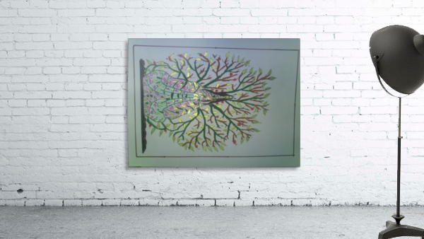 tree with angel art