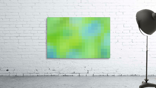 Abstract Pixel Art - blue and green 2