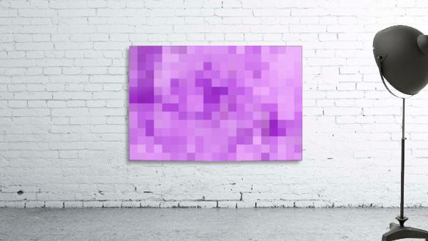Abstract Pixel Art - Purple Shades