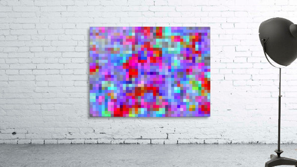 geometric square pixel pattern abstract background in blue purple pink red