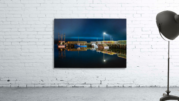 NIGHT TIME AT THE WHARF with textures