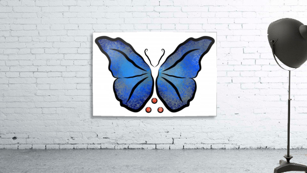 Deonioro - deep blue night butterfly with pearls