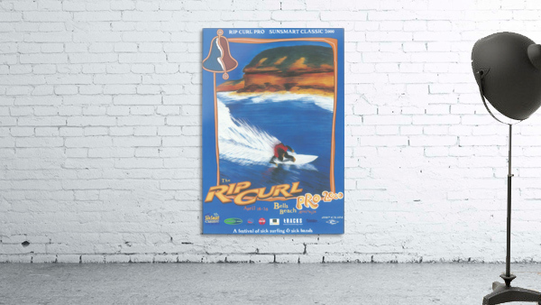2000 RIP CURL PRO BELLS BEACH EASTER Surfing Championship Competition Print - Surfing Poster