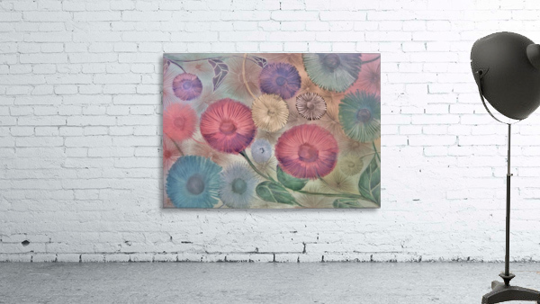 GERBERA DAISY SUMMER MEADOW PRINT