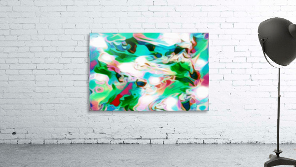 Waterfall - multicolor abstract swirl wall art