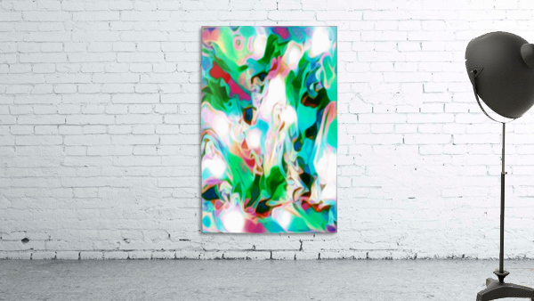 Waterfall vertical - multicolor abstract swirls