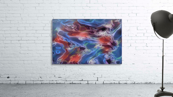 Blue Flames - multicolor abstract swirls