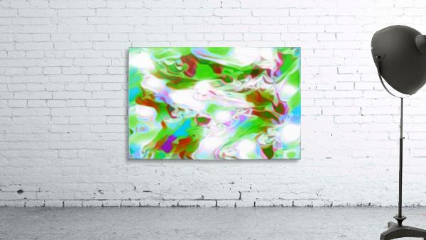 Green Glass Window - multicolor green abstract swirl wall art