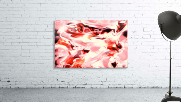 Super Charged - red orange pink abstract swirls wall art
